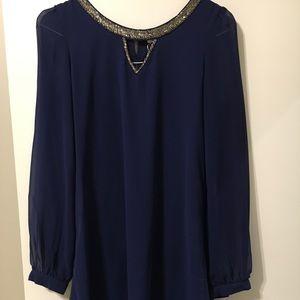 Sheer blue shift dress. Worn once.